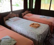 Beds in Amazon Jungle lodge