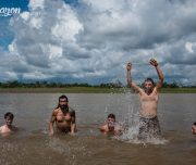 Going crazy in the Amazon river