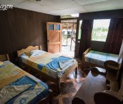 Amazon lodge rooms, Iquitos, Peru