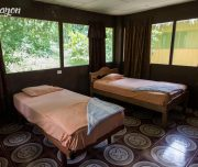 Rooms on the Amazon lodge. Iquitos, Peru. Everything is clean.