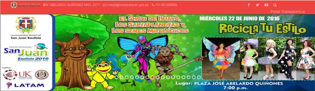 Shows infantiles - http://www.munisanjuan.gob.pe
