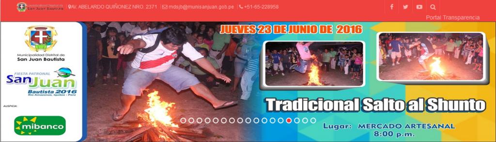 Tradicional salto al shunto - http://www.munisanjuan.gob.pe
