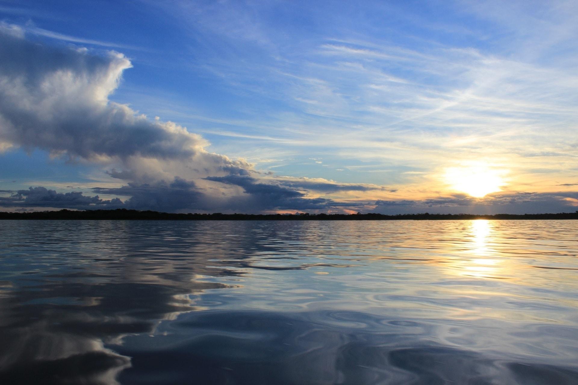 Pacaya Samiria National Reserve sunset - tour