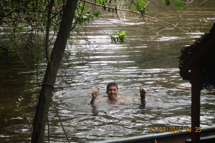 Swimming in the jungle. No words can decribe it.