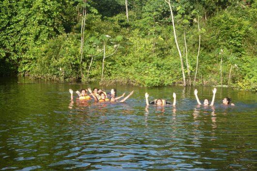 Our friends enjoying the Pacaya Samiria National Reserve.