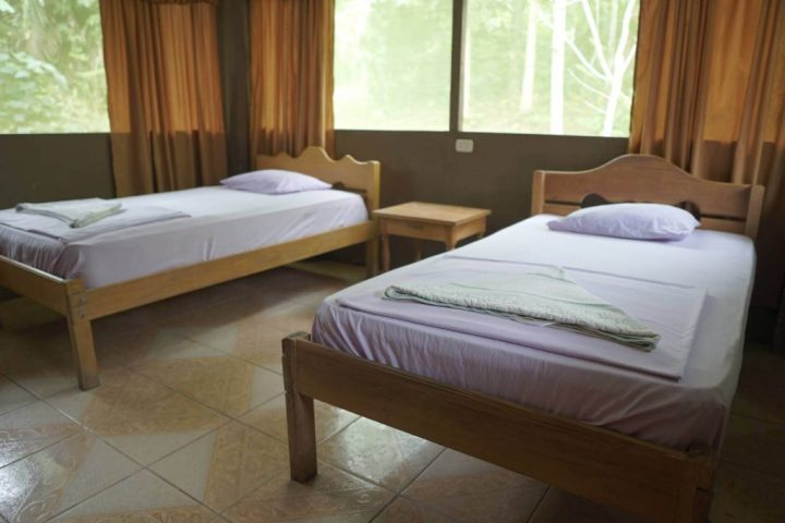 Twin beds in the lodge