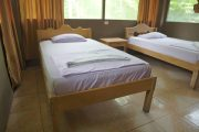 Beds in the Amazon lodge
