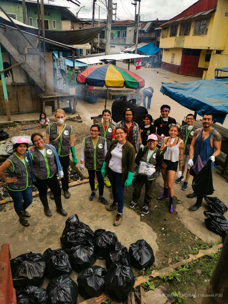 Amazon Experience with IACI and Lets clean Iquitos organizing a local clean up