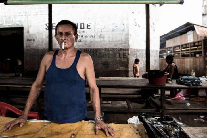 Mapachos in Belen market, Iquitos