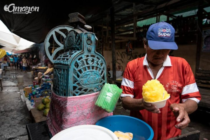 A street vendor in the Belen market
