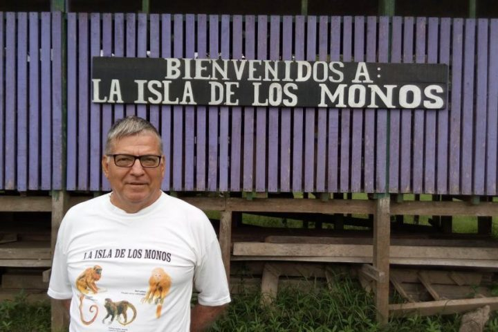 The real monkey island near Iquitos, Peru.