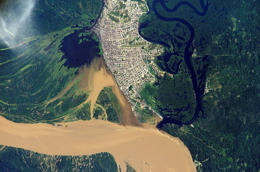 The city of Iquitos from the air