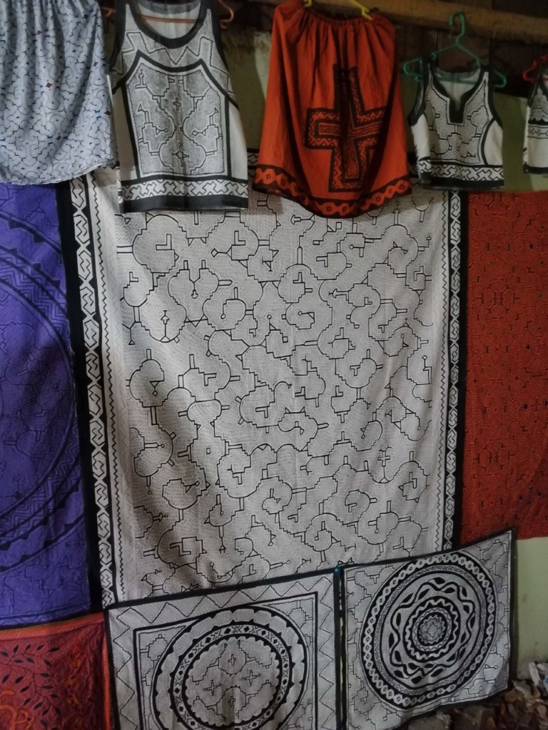 Clothes with different Shipibo patterns